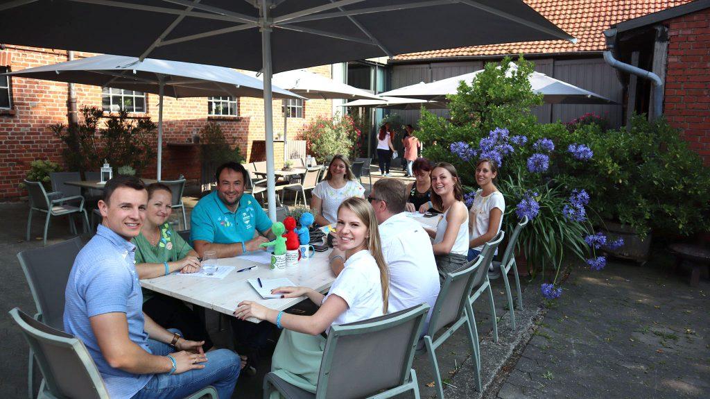 SippelsHof-Firmenevents_Teamwork im Innenhof