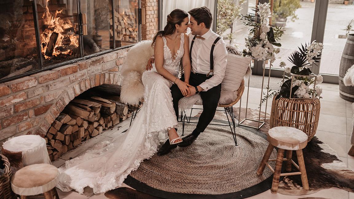 Elegant rustikale Hochzeit im Winter auf dem SippelsHof